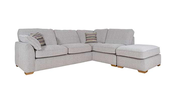 Corner Chaise With Pouffe