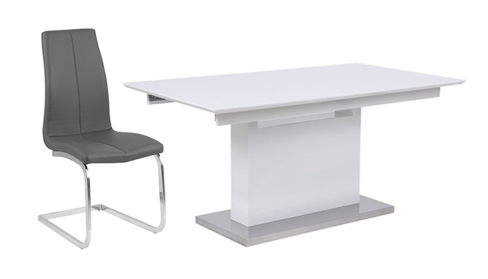 160cm Ext Table & 4 Chairs