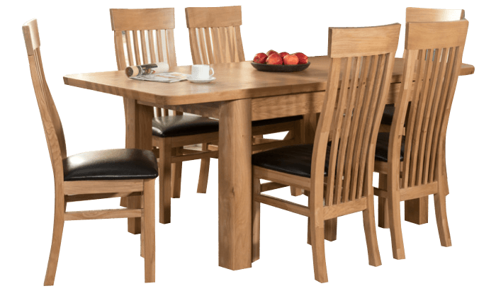 180cm Extending Table & 6 Chairs
