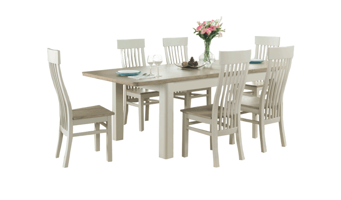 Large Extending Table & 6 Chairs