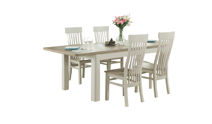 Small Extending Table & 4 Chairs