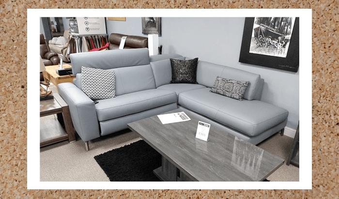 Power recliner corner sofa with power headrest