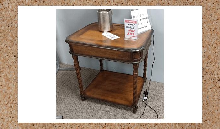 Large Mahogany Lamp Table