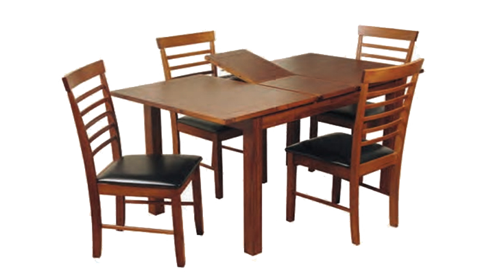 120cm Ext Table & 4 Ladder Chairs