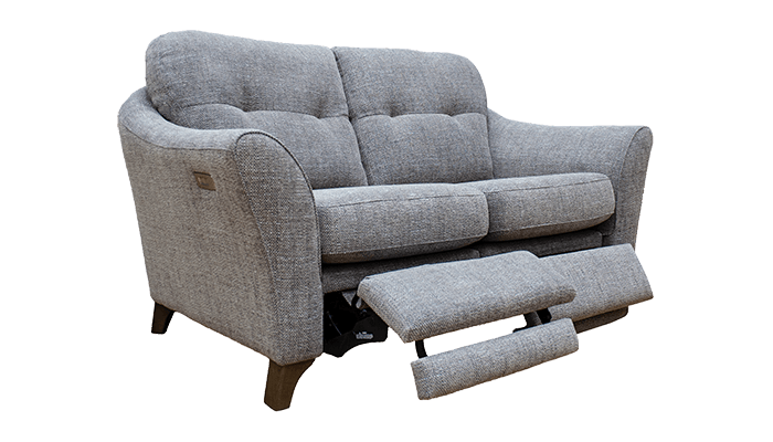 2 Seater Sofa with Footrest