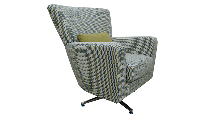 Accent Fabric Swivel Chair