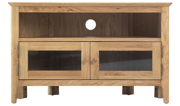 Glazed Corner TV Unit