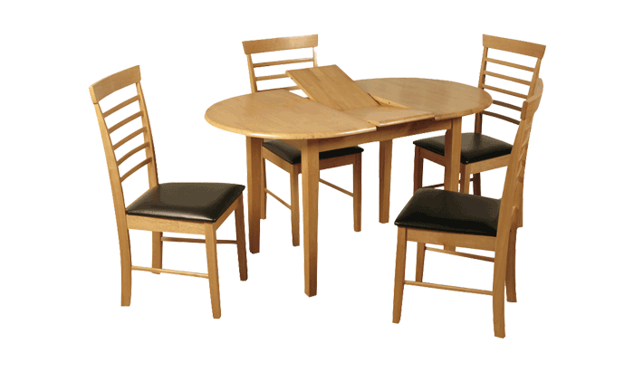 Oval Ext Table & 4 Chairs