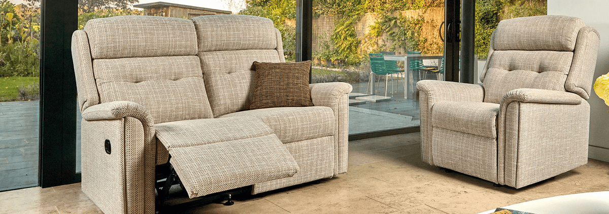 Fabric 2 Seater Manual Recliners