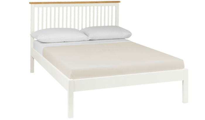 Thera Two Tone Double Bedstead - Low Foot End