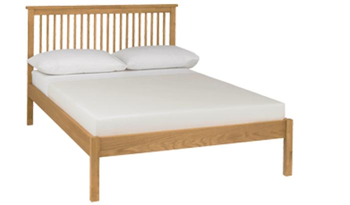 Thera Oak Double Bedstead - Low Foot End