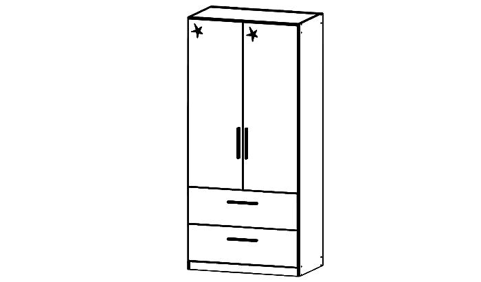 Cadiz 2 Door Combination Robe - Low