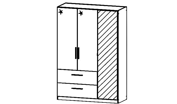 Cadiz 3 Door Combination Robe with mirror