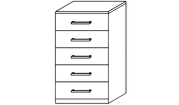 Karuna 5 Drawer Narrow