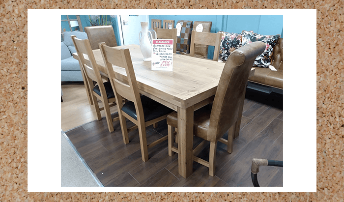 Dining Set 220-310cm with 6 Chairs