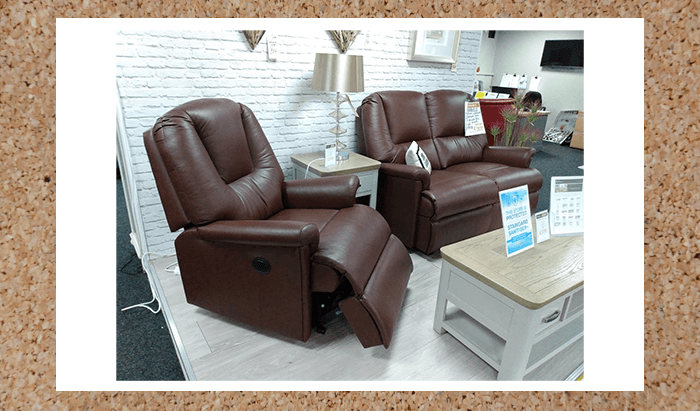 Leather 2 Seater Sofa and Power Recliner Chair