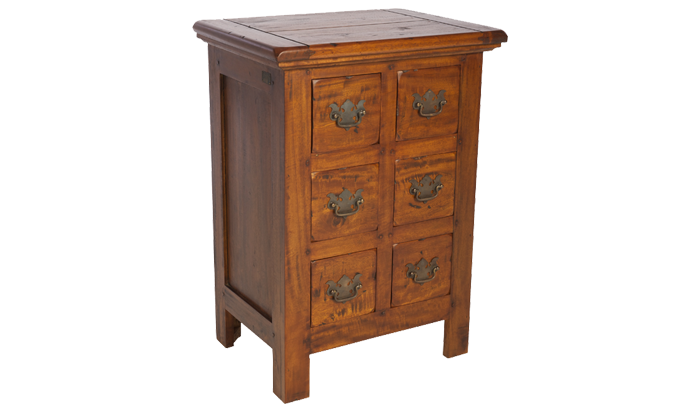 East Indies 6  Drawer Chest