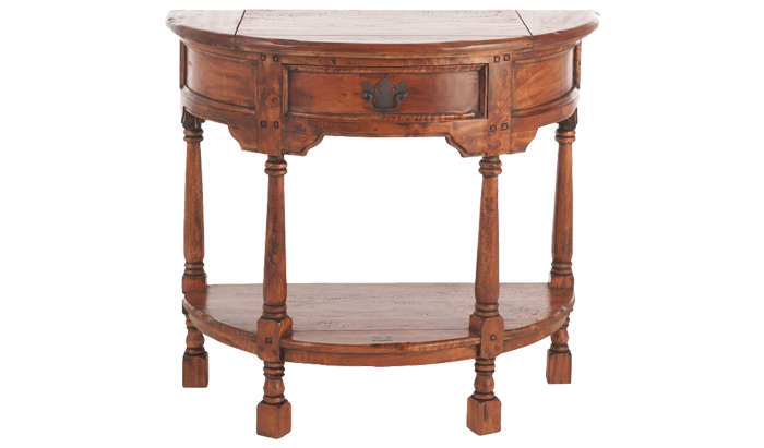East Indies Half Round Console Table