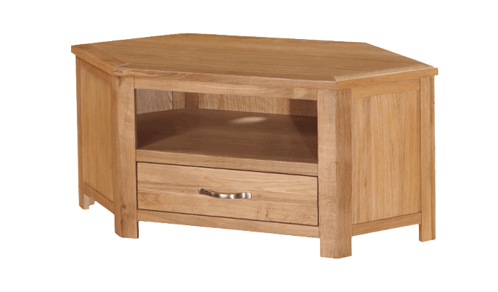 Exeter City Oak Corner TV Unit