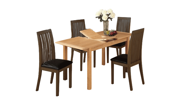 Exeter City Oak 120cm Ext Dining Table