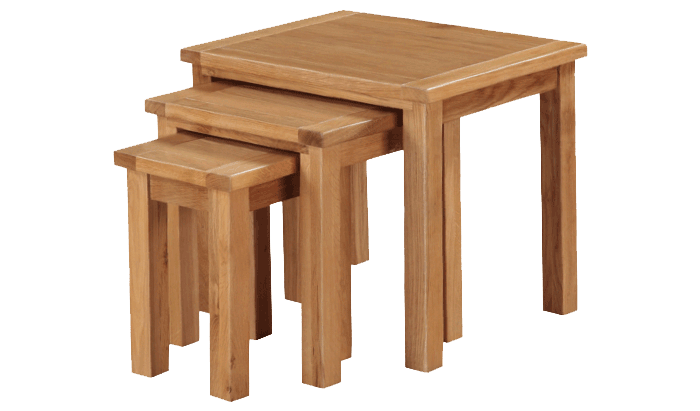 Exeter City Oak Nest of Tables