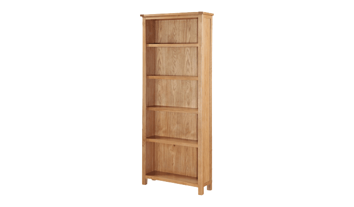 Exeter City Oak Tall Bookcase