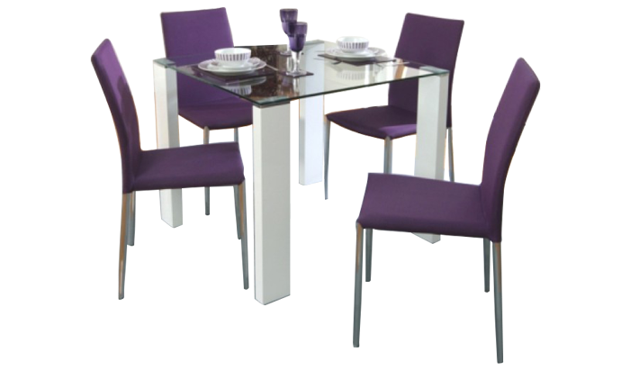90cm Table & 4 Chairs