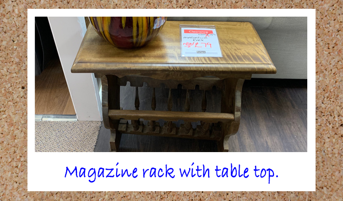Magazine stand with table top