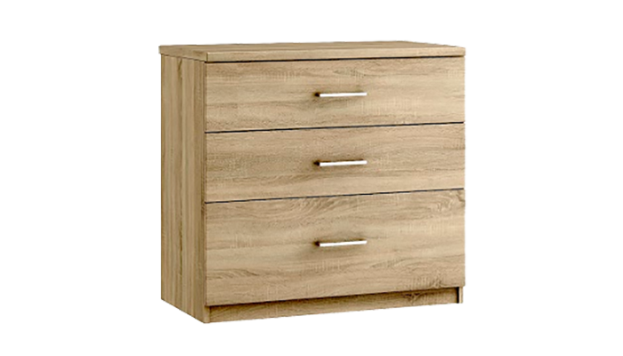 3 Drawer Chest (With 1 Deep Drawer)