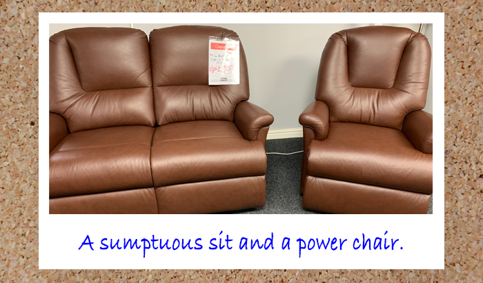 2 Seater and Power Recliner Chair