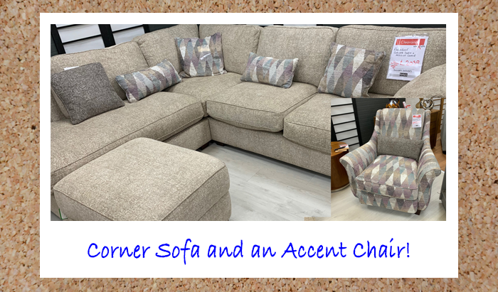 Corner Sofa & Accent Chair