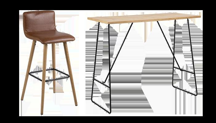 Bar Table & 4 Stools