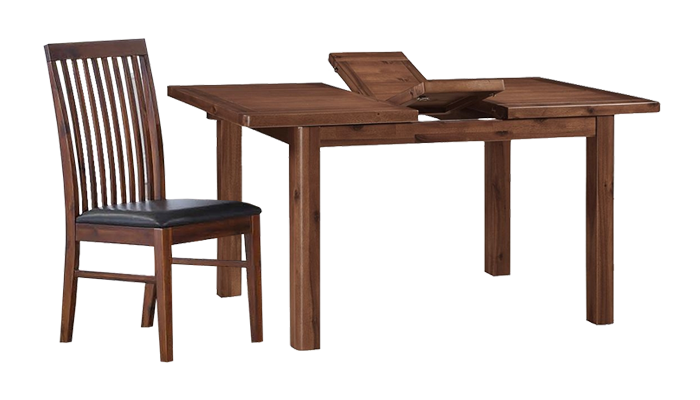 165cm Ext Table & 6 Chairs