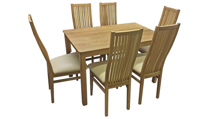120cm Table & 6 Chairs
