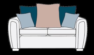 2 Seater Sofa Pillow Back