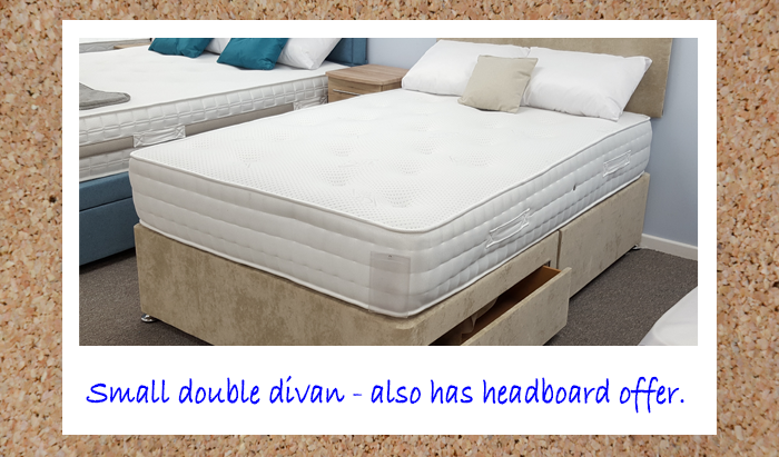 120cm Small Double Divan