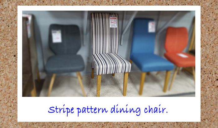 Stripe Pattern Dining Chair