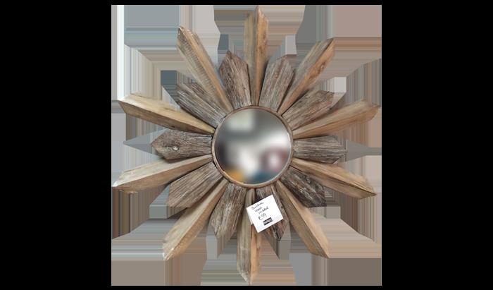 Sundial Wooden Mirror Sundial Wooden Mirror