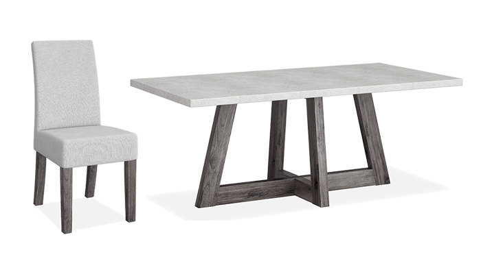 Travis 190cm Dining Table & 4 Chairs
