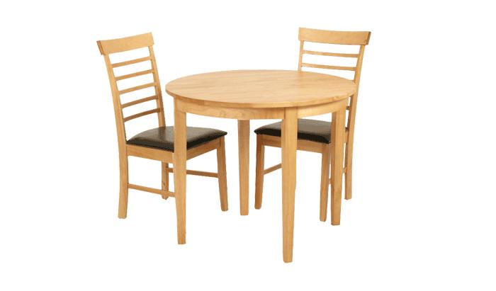 Half Moon Table & 2 Chairs