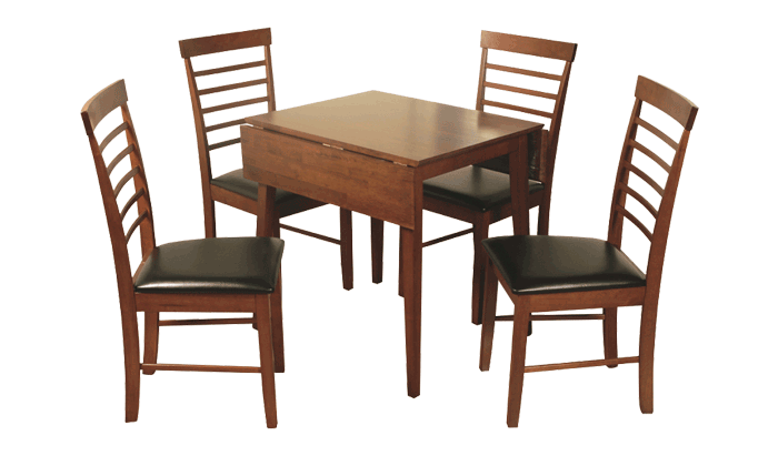 Square Dropleaf Table & 2 Chairs
